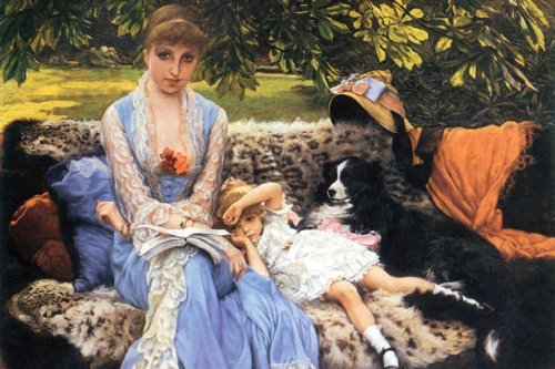 Silence, By James Tissot, 12X18 Paper Giclée front-946723