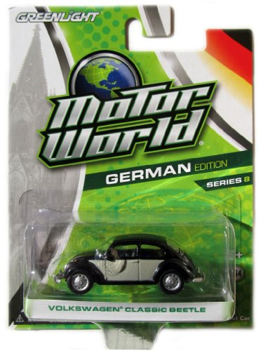 Greenlight Motor World German Edition Series 8 Volkswagen Classic Beetle Black/Gray