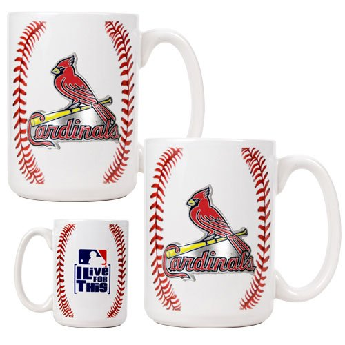 MLB St. Louis Cardinals Two Piece Ceramic Gameball Mug Set - Primary Logo at Amazon.com