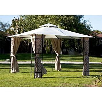 Gazebo in acciaio verniciato con tenda parasole cuspide for Gazebo 4x3 amazon