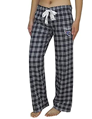 NFL Tennessee Titans WOMENS Plaid Fall / Winter Pajama Pants