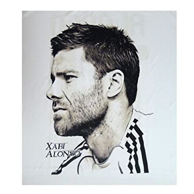 Spain Soccer Player T-shirts Real Madrid 07 Xabi Alonso (Medium)