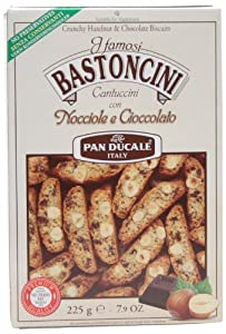 Pan Ducale Crunchy Hazelnut & Chocolate Biscotti, 7.9-Ounce (Pack of 4)