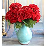 5flowers-Artificial-Silk-Hydrangea-Bouquet-Fake-Flower-Arrangement-Wedding-decor