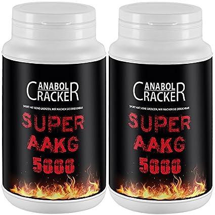 2X Super AAKG 5000 mg, 200g Dose, L-Arginin Alpha Ketoglutarate, Organge Geschmack, Aminosäuren Pulver
