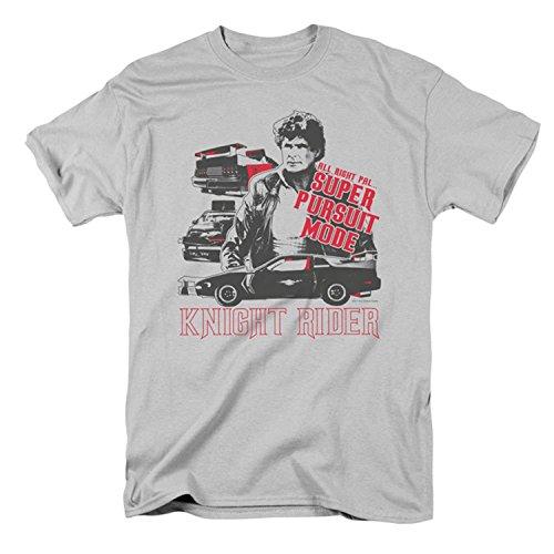 Knight Rider Men's Super Pursuit Mode T-shirt Silver