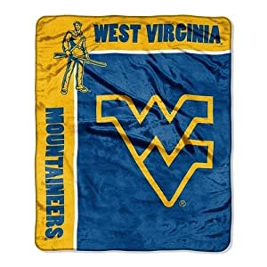 NCAA West Virginia Mountaineers 50-Inch-by-60-Inch Raschel Plush Throw School Spirit... by Northwest