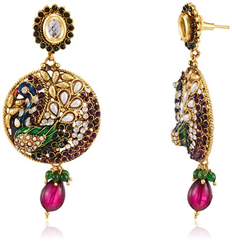 Sia Sia Art Jewellery Drop Earrings For Women (Golden) (AZ2083) (Yellow)