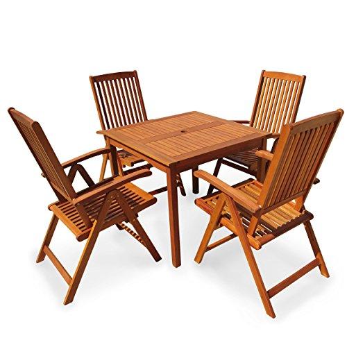 indoba ind 70299 ssse5q serie sun shine gartenm bel set 5 teilig aus holz fsc zertifiziert. Black Bedroom Furniture Sets. Home Design Ideas