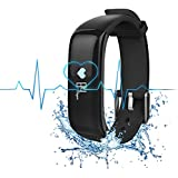 H-Band Fitness Tracker Smart Wristband App - IP67 Water Resistance Bluetooth 4.0 Blood Pressure Monitor And Heart...