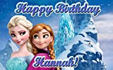 Frozen Ice Palace 1/4 Sheet Edible Photo Birthday Party Cake Topper. ~ Personalized!