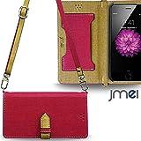 iPhone6 ケース JMEIオリジナルカルネケース VESTA & ロングストラップ ホットピンク docomo au softbank アイフォン 6 apple スマホ カバー スマホケース 手帳型 ショルダー スマートフォン