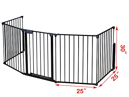 Fire Rated Gates : Tms baby safety fence hearth gate bbq metal fire