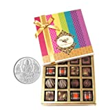 Chocholik Belgium Chocolates - Decadent Truffle And Chocolate Collection Gift Box With 5gm Pure Silver Coin -...