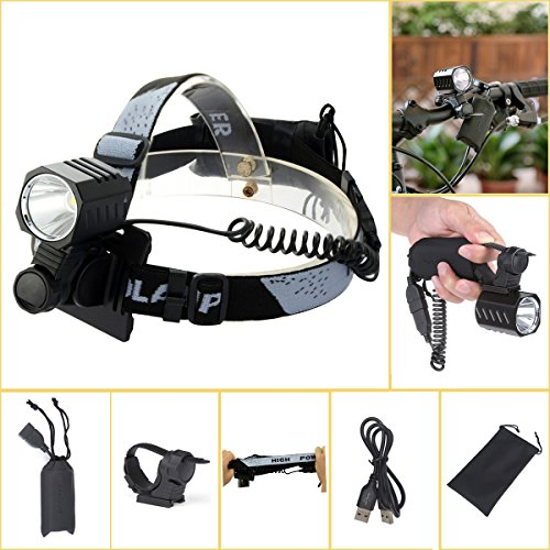Welltop LED Headlamps 4 Modes Bicycle Light Work Lights ...