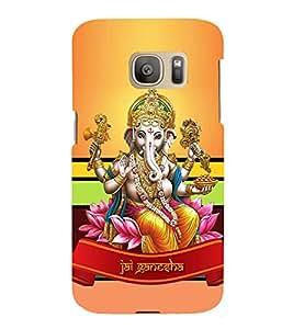 Vinayaka Chaturthi 3D Hard Polycarbonate Designer Back Case Cover for Samsung Galaxy S7 Edge :: Samsung Galaxy S7 Edge Duos G935F
