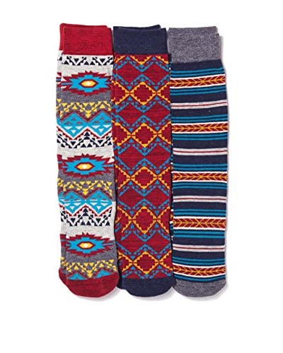 Basic/Outfitters Men's Aztec Crew Sock 3-Pack