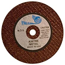 Falcon A36TBE Extra Tough Resinoid Bonded Double Reinforced Grinding and Snagging Abrasive Cut-off Wheel, Type 1, Aluminum Oxide