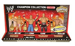 WWE Mattel WWE Wrestling Exclusive Champion Collection Action Figure 4Pack Daniel Bryan, John Cena, Kane Dolph Ziggler at Sears.com