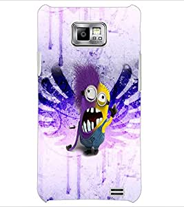 PrintDhaba Minion D-3526 Back Case Cover for SAMSUNG GALAXY S2 (Multi-Coloured)