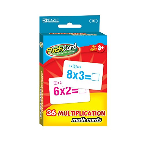 BAZIC Multiplication Flash Cards (36/Pack)