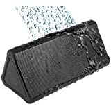 Cambridge SoundWorks OontZ Angle PLUS Portable Wireless Bluetooth Water Resistant Outdoor & Shower Speaker up to 15 Hour Playtime works with iPhone iPad tablet Samsung and smart phones - Black Grille