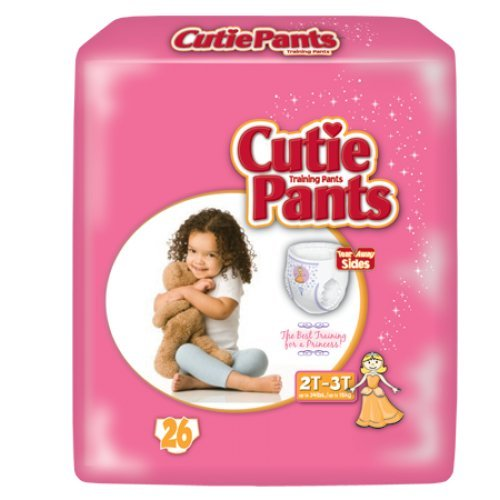 Cuties® Training Pants for Girls - Case/104 (2T - 3T - Girls (18 - 34 lbs.)) - 1