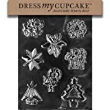 Dress My Cupcake DMCC020 Chocolate Candy Mold Assorted with Star Christmas