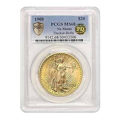 1908 P Saint Gaudens $20 MS68 PCGS