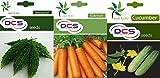 DCS Bitter Gourd , Carrot & Cucumber Seeds(Pack of 3 Per Pack 50 Seeds)