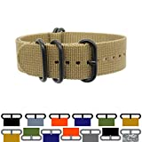 ZULU4 Ballistic Nylon ZULU Watch Strap + Spring Bars, Field Ready + Fashion Forward, Heavy Duty + Washable
