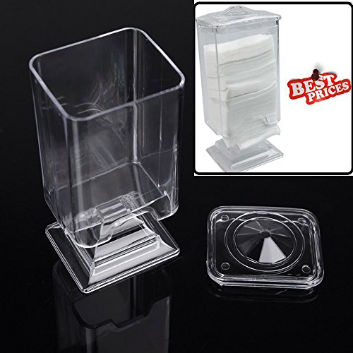 docooler Makeup Cotton Pad Box Nail Art Remover Paper Wipe Holder Container Storage Case Transparent (Makeup Remover Wipes Container compare prices)