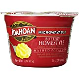 Idahoan Mashed Potatoes, Buttery Homestyle, 1.5 Ounce (Pack of 12)