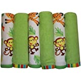 Fisher-Price Rainforest Washcloth 6-Pack (Discontinued by Manufacturer)