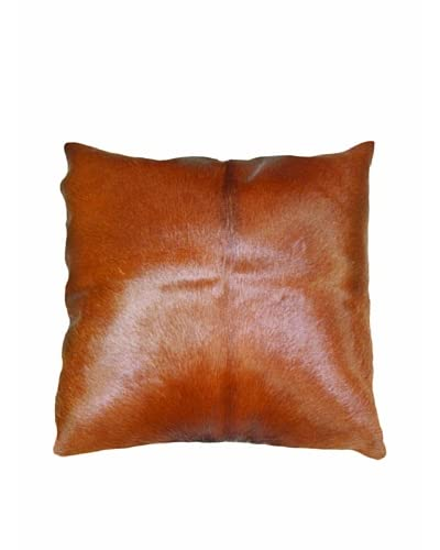 Natural Brand Torino Cowhide Pillow, Brown