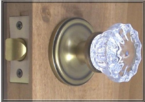 THE FINEST Premium CRYSTAL GLASS Passage Door Knob Set. Very special purchase of the Finest Crystal Glass Passage Door set, with all the hardware needed to install on interior or exterior passage doors.