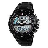 Lowpricenice TM Male Dual Display Waterproof Multi Function LED Sports Watch Alarm