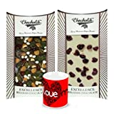 Chocholik Luxury Chocolates - Delicious Combination Of White & Dark Chocolate Bars With Love Mug