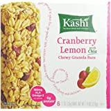 Kashi Chewy Granola Bar, Cranberry Lemon with Chia, 1.2 Ounce, 6-Count Bars