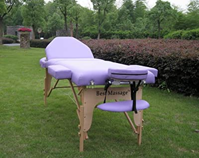 "New BestMassage® Reiki Purple 77""L 4"" Pad Portable Massage Table Bed Spa"