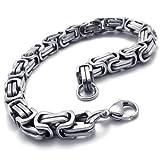 Watch & Jewelry Online Shop Ranking 21. KONOV Jewelry Men's Bracelet Stainless Steel, Silver, 9 Inch