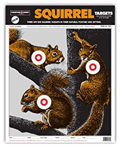 "Thompson Target - Life Size Squirrel - Premium Shooting Targets 15""x19"" (50 pack) & Free Target Stand"