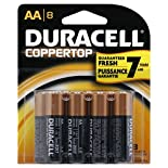 Duracell Coppertop Batteries, Alkaline, AA, 8 batteries