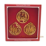 Olive Wood Nativity Ornament Set-Gift Boxed