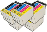 The Ink Squid 5 Sets Of T0611/T0612/T0613/T0614 (T0615 'Teddy Bear') High Capacity Compatible Ink Cartridges For Epson Stylus 88+ Printer