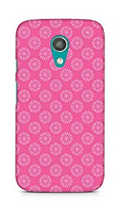 Amez designer printed 3d premium high quality back case cover for Motorola Moto G2 (Flower Pattern2)
