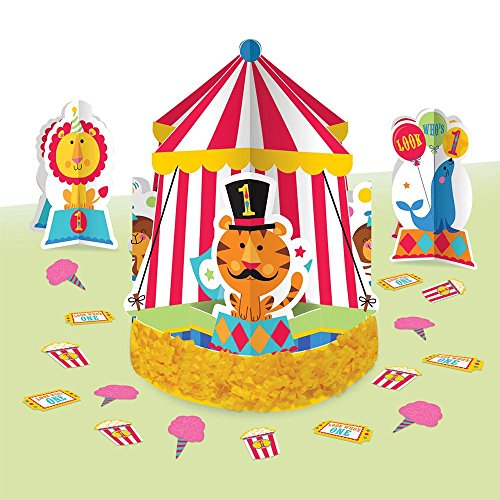 Fisher Price 1st Birthday Circus Centerpiece Kit 23 Pc.