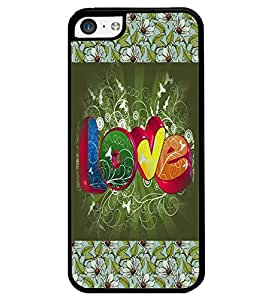 PrintVisa Metal Printed Love Designer Back Case Cover for Apple iPhone 5C-D4732
