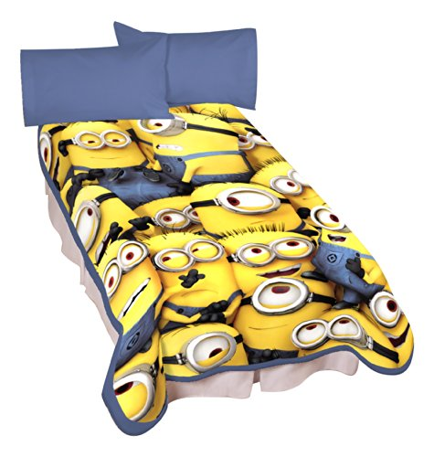 Find Discount Universal A4322C Minions Little Yellow Buddies Microraschel Blanket, 62 by 90-Inch