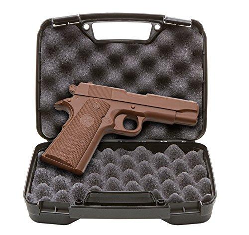 Chocolate Gun - Full Size Solid Chocolate Handgun with Real Gun Case by ChocolateWeapons
